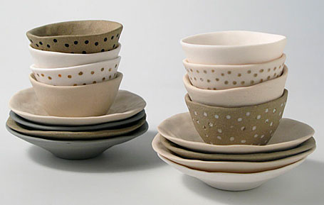 Little Uns by Brisbane-based ceramicist Mel Robson - at the Little Uns ceramics exhibition at Pomme, Mornington, Victoria.