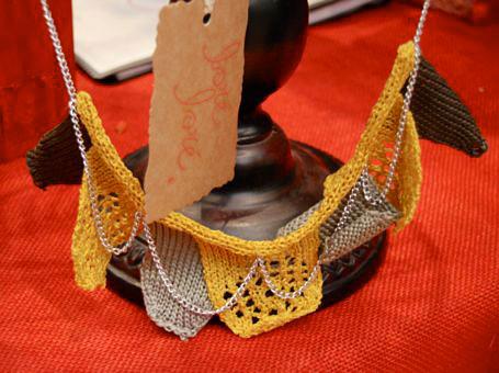 Crocheted necklace by Loré Loré