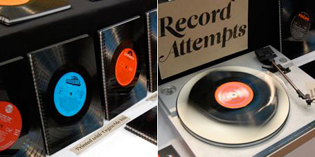 Upcycled vinyl record creations by Record Attempts