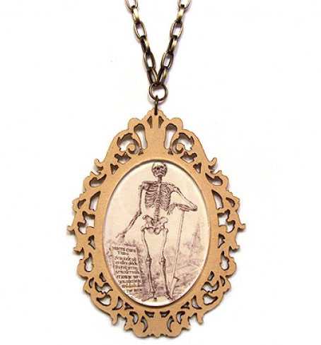 'Skeleton Gentleman' pendant by Northey Designs