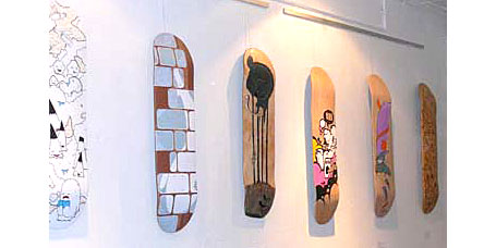 decks from dexhibition at Panic Gallery