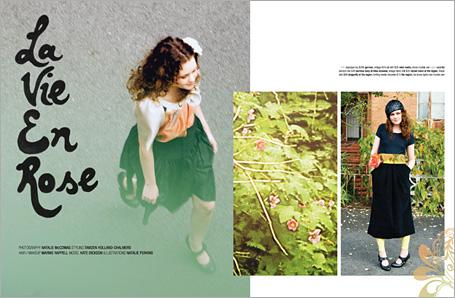 Peppermint Magazine La Vie En Rose Spread