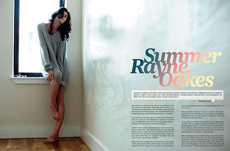 Peppermint Magazine spread - Summer Rayne Oakes