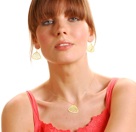 Gold Pippi jewellery by Polli