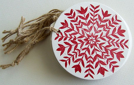 Letterpress Christmas tags by RubyVictoria