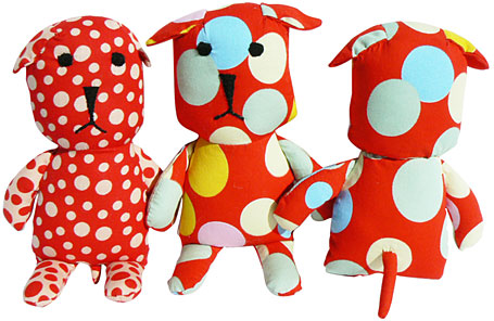 sallymac Japanese red cotton dog softies