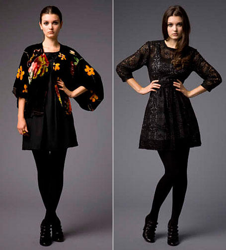 Velvet Smoking Jacket and Christina Dress - lace, from Secret Squirrel Clothing