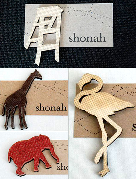 Fabric, resin & wood brooches by Shonah Jewellery Design