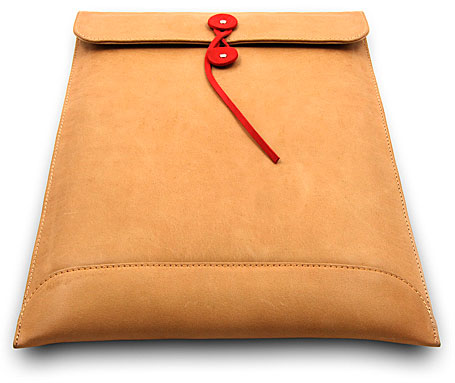 Par Avion designer padded leather laptop bag by Shuky