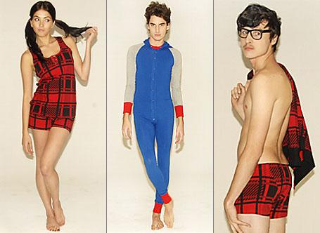 Toddy shorties, singlet, long johns and cardigan