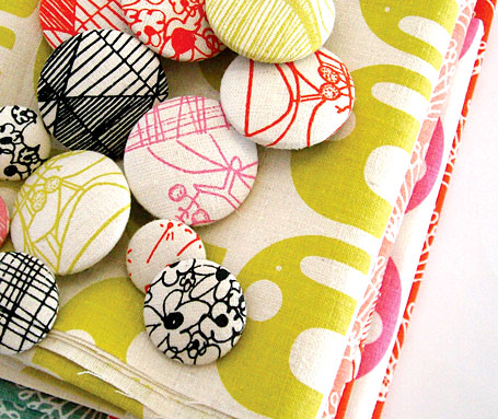 Buttons & fabric by Umbrella Prints