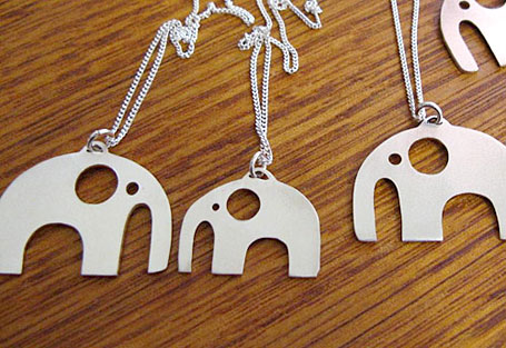 Parade silver elephant jewellery by Umbrella Prints