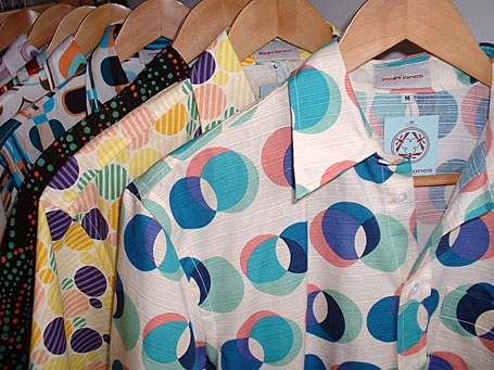 Mens cotton shirts by Yoshi Jones - made using uniquely patterned fabrics sourced from Japan