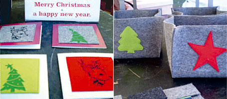 0049 Design - felt Christmas cards and felt Christmas boxes for Christmas 2007