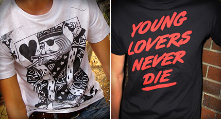 Pirate King and Young Lovers Never Die limited edition tees by Young Lovers