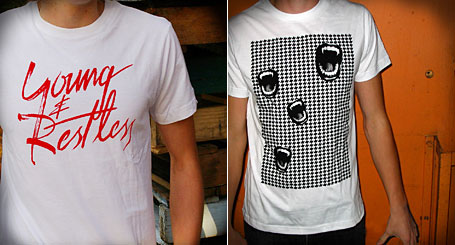 Young & Restless and Vampire Hounds limited edition tees by Young Lovers