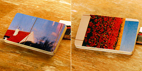 Small Rectangular Tokyo Handmade Wooden Photography Brooches by Jen Hall, available from the Yradier online store.