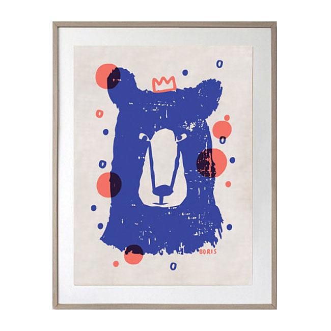 boris the bear cotton linen limited edition art tea towel indie