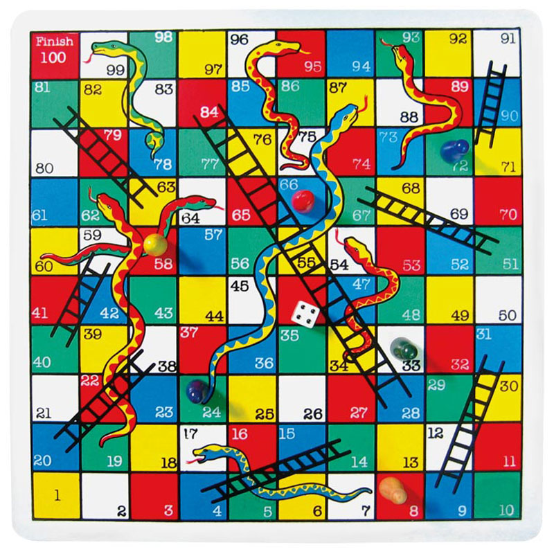 Snakes And Ladders Wooden Game Indie Art Amp Design