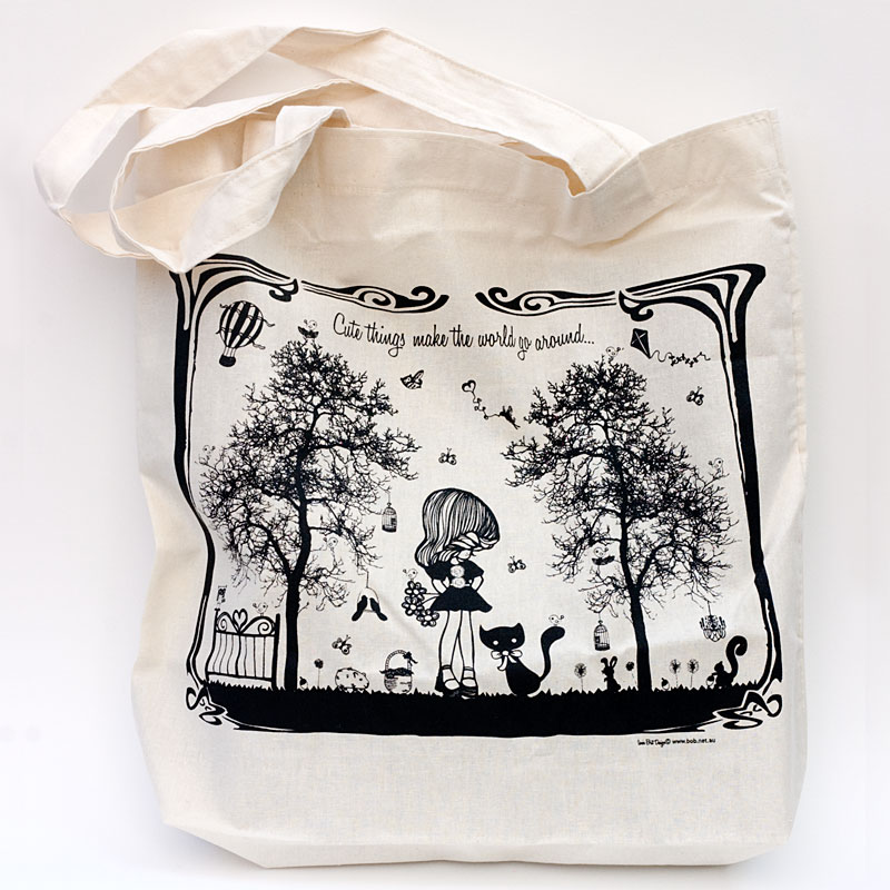 Cute Things Tote Bag | indie art & design