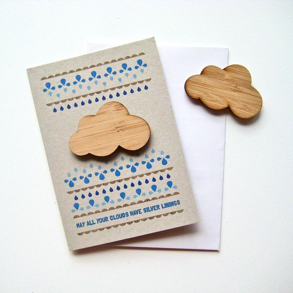 folk cloud magnet card indie art design