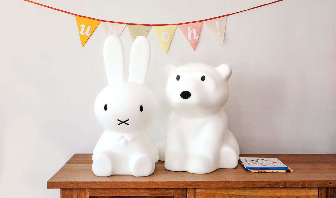 Best friends, Miffy and Nanuk table lamps