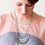 Four Piece Rainbow Enamel Necklace by Love Hate