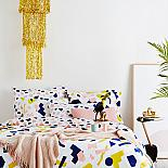Tutti Frutti Reversible Queen Size Quilt Cover - designed in Melbourne by Goosebumps Boutique Bedding