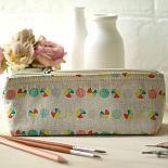 Linen Pencil Case Pie Print by Love Hate