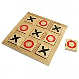 Noughts and Crosses Wooden Game designed in Australia by Fun Factory