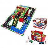 Wooden Racing Car Set with Carry Case designed in Australia by Fun Factory