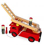 Wooden Fire Engine with Folding Ladder and 2 Firemen designed in Australia by Fun Factory