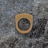 Stacking Resin Ring - mustard - designed and made in Australia by mooku
