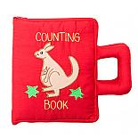 Australian Counting Book Bag - Soft Activity Book in Red designed in Australia by Growing World