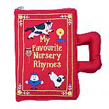 My Favourite Nursery Rhymes Red Soft Book Bag - designed in Australia by Growing World