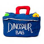 Dinosaur Bag with 5 dinosaur softies designed in Australia by Growing World
