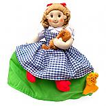 Dorothy - Wizard of Oz Soft Fabric 3-Way Storybook Doll Large - designed in Australia by Growing World