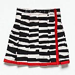 The Airline Skirt - Black and White Graphic Stripe by Knuffle Kid