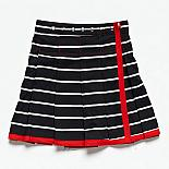 The Airline Skirt - Black and White Stripe (Narrow) by Knuffle Kid