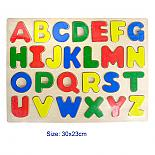 Wooden Alphabet Jigsaw Puzzle Raised Upper Case Letters designed in Australia by Fun Factory