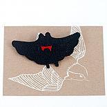 Bat Leather Brooch by Mingus