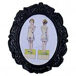 Girl Cameo Brooch by Button Tree