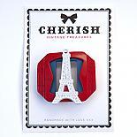 Red, White & Blue Eiffel Tower Brooch by Cherish Vintage Treasures