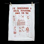 Tea Towel - Dishwashing Dance - made in Melbourne by Able & Game
