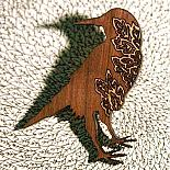 A Crow Brooch by Bonnie Poplar
