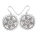 Doily Stainless Steel Earrings (Large) by Polli