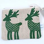 Deer Herd Flat Purse - Green on Natural by Mingus