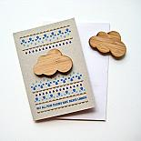 Folk Cloud Magnet Card by Bird of Play