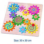 Wooden Spinning Gears Puzzle Board designed in Australia by Fun Factory