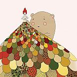 Girl and her Bear Print detail by Nikki Catalano